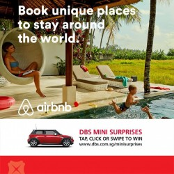 DBS | 15% off on Airbnb with DBS cards