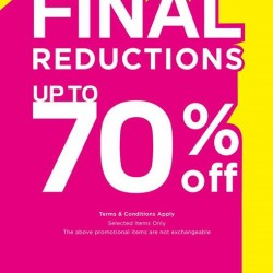 NET | Up to 70% off final reduction sale