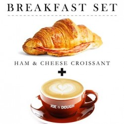 Joe & Dough | Croissant+Drink Breakfast Set at $7.80