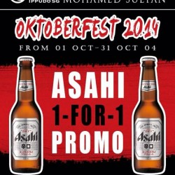IPPUDO | OKTOBERFEST 2014 1 for 1 Asahi Super day promotion