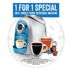 The Coffee Bean & Tea Leaf | 1-for-1 Beverage Machine