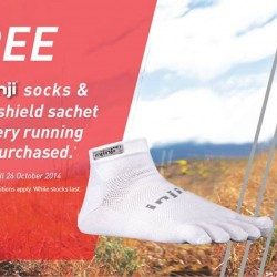 Running Lab | Free Injinji toe socks with running shoes purchased