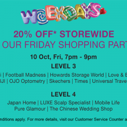 Tampines 1 | 20% off store-wide Friday Shopping Party