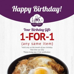 GINZA BAIRIN | 1-FOR-1 treat on your birthday month