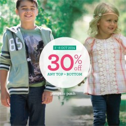 Pumpkin Patch | top and bottom 30% off promotion