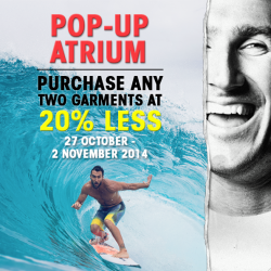 Billabong's  | 20% off Pop-Up Sale @ 313 L1 atrium
