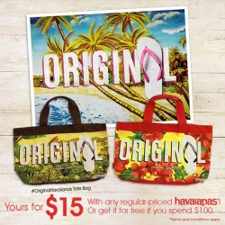 DOT Singapore | Havaianas Original Tote Bag Promotion