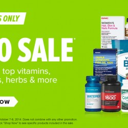 GNC USA | 100s of Items Under US$10 Sale Oct 2014