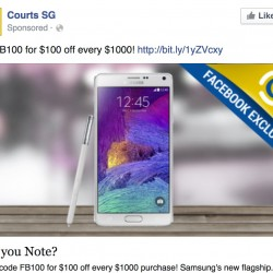 Courts Online | S$100 OFF Facebook Fan Coupon
