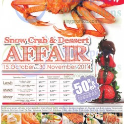 Sakura | Snow crab & dessert affair