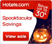Hotels.com | Spooktacular Savings Sale up to 30% off