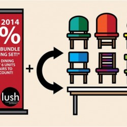 Lush Furniture |  40% off sofa & dining sets promotion