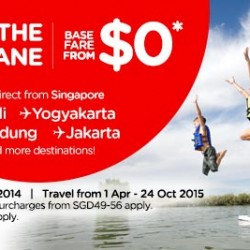 AirAsia | 0 Base Fare one-way airfare promotion