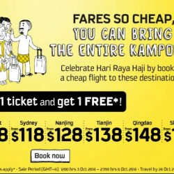 Scoot | Buy-1-Get-1-Free airfare promotion