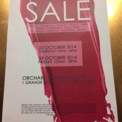 Shiseido Annual Warehouse Sale Coming this Thursday @Orchard Building