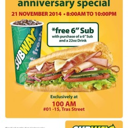 Subway | Buy-One-Get-One promotion at 100 AM outlet