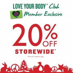 The Body Shop | 20% OFF storewide sale