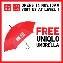 Uniqlo | free Umbrella for the 1st 100 customer at OneKM