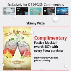 Skinny Pizza | Free Mocktails with any pizza purchase