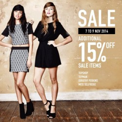 F3 Singapore | Extra 15% off sales item at TopShop