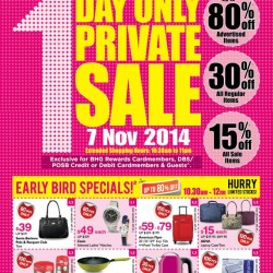 BHG | 1 DAY ONLY Private Sale at Bugis