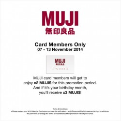 MUJI | Members Special 3X points