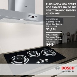 Harvey Norman | 50% discount on selected hood models from Bosch