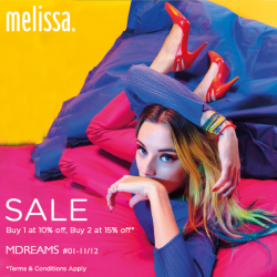 Melissa | up to 15% off all Melissa shoes promotion