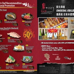 New Itacho's Chef Recommendation & Seasonal Promotion