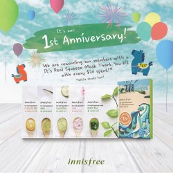 Innisfree | It's Real Squeeze Mask kit with every S$20 purchase