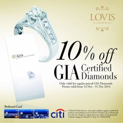 Lovis | 10% off GIA certified diamonds for CitiBank cards