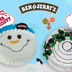 Groupon | 35% Off Christmas-Themed Ice Cream Cake at Ben&Jerry
