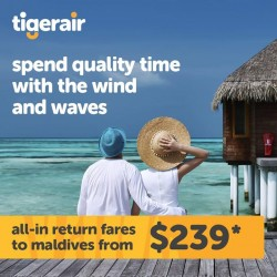 TigerAir | Travel to Maldives for S$239