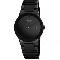 "Amazon | Citizen Men's AU1065-58E Eco-Drive ""Axiom"" Black Stainless Steel Watch with Three-Link Band"