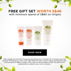 Luxola | Free Gift Set with min. spend of S$80 on Origins
