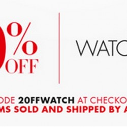 Amazon | 20% OFF Watches Coupon Code