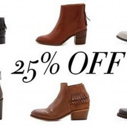 Shopbop | 25% OFF Select Boots Coupon Code