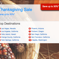 Hotels.com | Save up to 30% Thanksgiving Sale