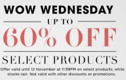 Luxola | W.O.W. Wednesday sale up to 60% off