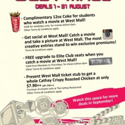Cathay Cineplex | complimentary 12oz coke for students