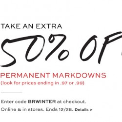 Banana Republic USA | Extra 50% OFF mark down sale
