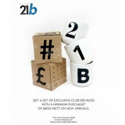 Club 21 | Free exclusive set of Club 21b mugs with $800 spend