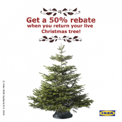 IKEA   50% rebate with trade-in Christmas tree
