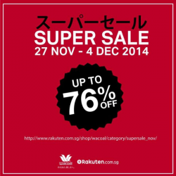 Wacoal | Rakuten super sale promotion up to 76% off