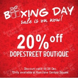 KissJane | 20% off Dopestreet apparels and accessories