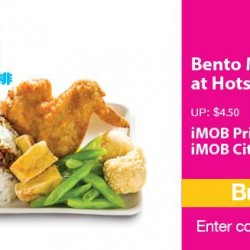 HotstarSG | Taiwanese Bento meal at 25% discount