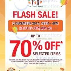 The Cocoa Trees | 4 hours flash sale ay Raffles city