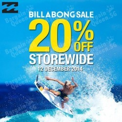 Isetan | 20% discount storewide at Billabong