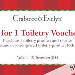 Crabtree & Evelyn | 1-For-1 toiletry item