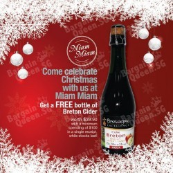 Miam miam | FREE Breton Cider with a minimum spending of $100